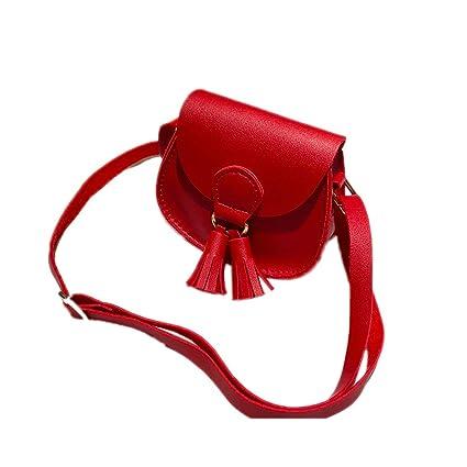 ba01ad3b539e Women Tassel Crossbody Bag - Girl Cute Vegan Leather Flap Top Mini ...