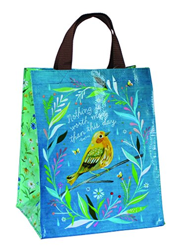 (Katie Daisy Reusable Shopping Tote Bag, Wildflower Bird by Katie Daisy)