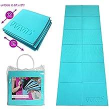 VViViD Foldable Thick PVC Padded Square Tile 6ft x 2ft Workout and Yoga Mat