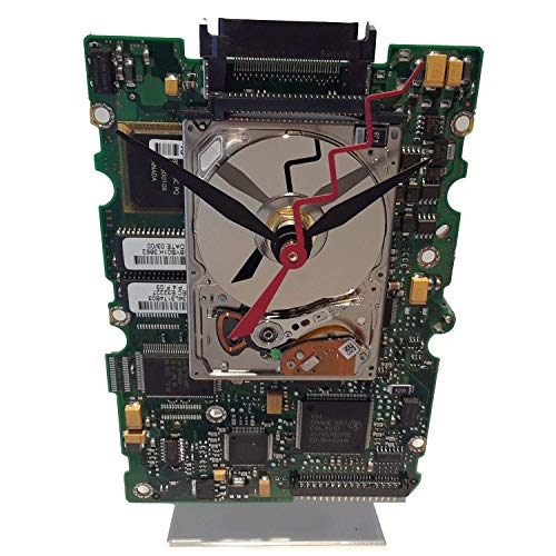 Apple iPod Hard Drive Clock, on a Circuit Board. Got Apple Geek Clock, Gifts for Her, Gifts for Men, iPod Clock, Gadget Clock, Geek Gift?