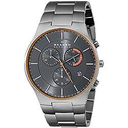 Skagen Men's SKW6076 Balder Grey Titanium Link Watch
