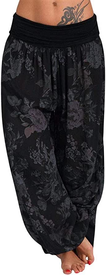 Amazon.com: Pongfunsy Women's Casual Loose Pants Comfy