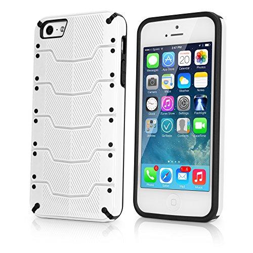 BoxWave armorplate Apple iPhone 5S Case–SNAP FIT Hard Shell Case–Premium Stoßdämpfung (weiß/schwarz)