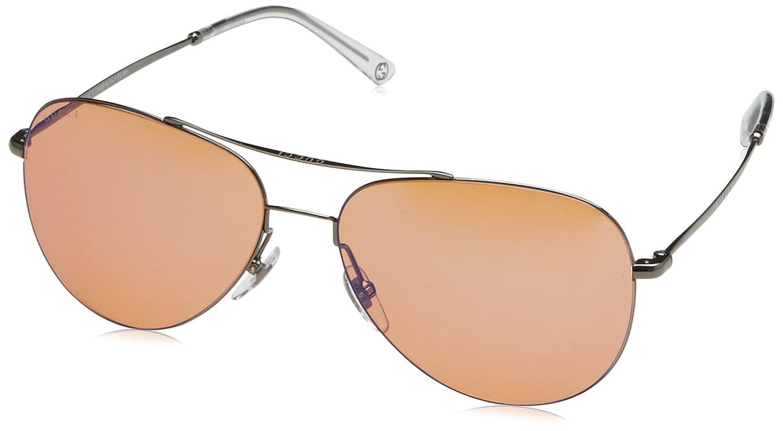 c912825f7f67e Gucci Metal Aviator Sunglasses Dark Ruthenium – Southern California ...