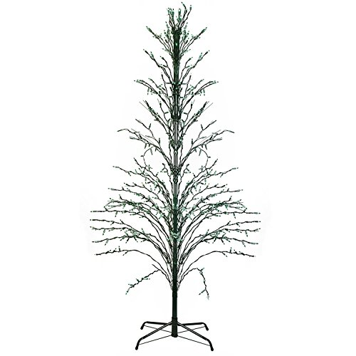 6' Green Lighted Christmas Cascade Twig Tree Outdoor Yard Art Decoration - Green Lights by Northlight