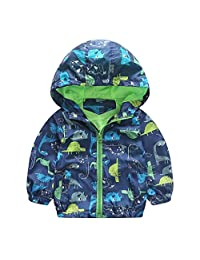 ChainSee Baby Boy Spring Winter Printed Hooded Zipper Warm Jacket Outerwear Coat