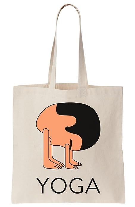 Yoga Head Canvas Tote Bag: Amazon.es: Zapatos y complementos