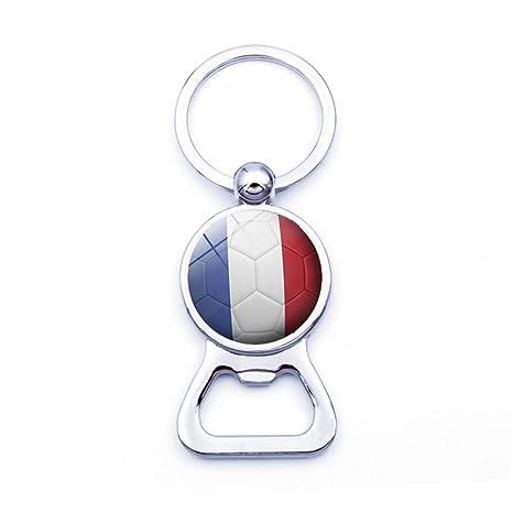 Topdo - Llavero con diseño de Bandera de Francia (8,3 x 3,2 cm)