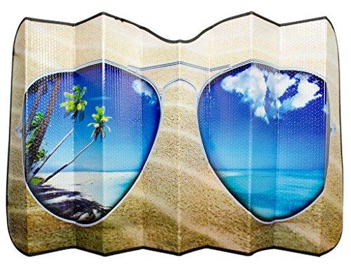 7248 Solar Shield Beach Bum Folding Sunshade, 28.5-Inches x 58-Inches ()