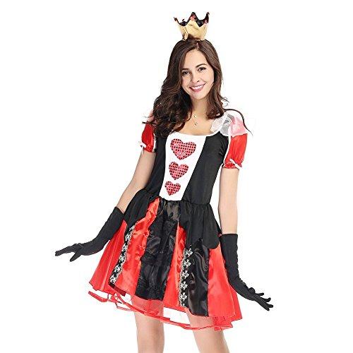 Weimisi Alice's Adventures in Wonderland Queen of Hearts Halloween Costume (M)