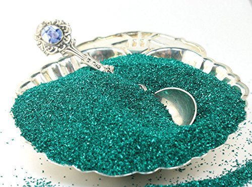 Emerald Green Imported German Glass Glitter - 4 Ounce Bag - Fine 90 Grit (Most Popular Grain Size) Sparkly Glass Glitter - 311-9-008