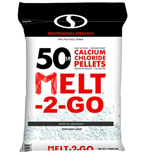 Snow Joe AZ-50-CCP Melt-2-Go 94% Pure Calcium Chloride Pellet Ice Melter, 50-lb Resealable ()