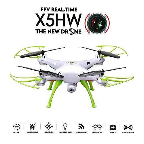 GoolRC X5HW Wifi FPV Drone with HD Camera Live Video Altitude Hold Function RC Quadcopter (White)