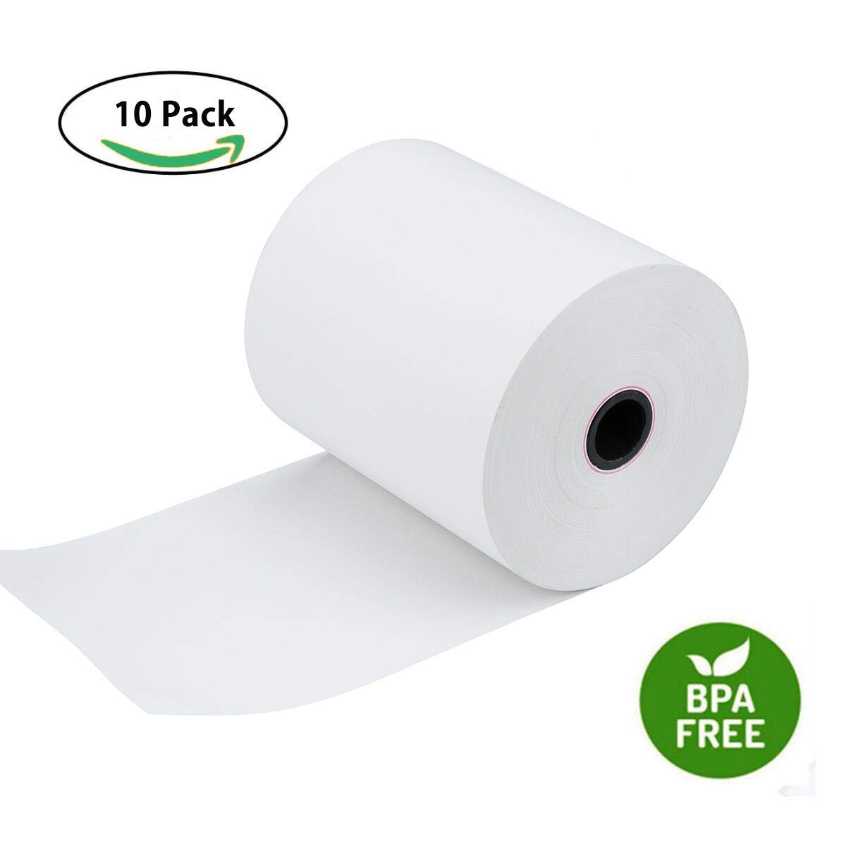 Thermal Paper Rolls 3 1/8'' x 230' Thermal POS Receipt Cash Register Paper Roll by Hapaper Brand (10 Rolls/Box)