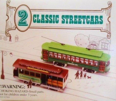 Set of 2 CLASSIC STREETCARS - Miniature - Desire Street and Powell & Mason San - San Street Francisco Powell