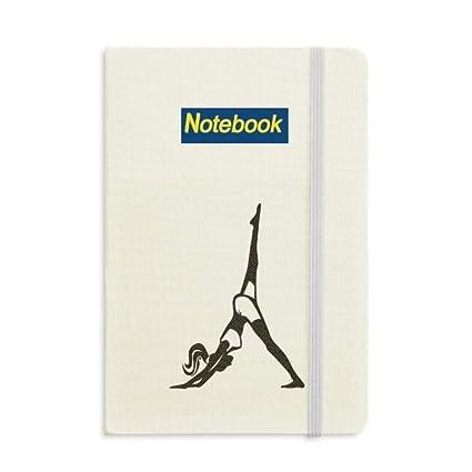 Leg Motion Yoga Girl - Cuaderno de notas (A5), diseño con ...