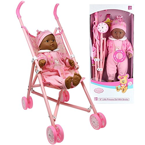 My First Baby Doll Stroller - Soft Body Talking Baby Doll Included Fun Play Combo Set for Babies Infants Toddlers Girls (Mommy Real Loving Baby Doll)