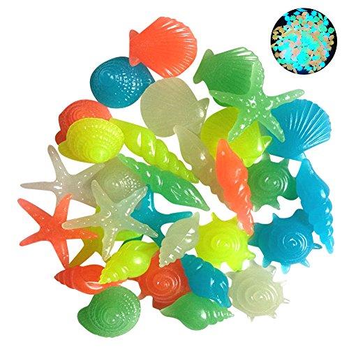 - SHZONS Fluorescent Stones, Aquarium Fluorescent Beads Pebbles Stones Gravel for Fish Tank Garden Plant Flower Pot Mixed Color