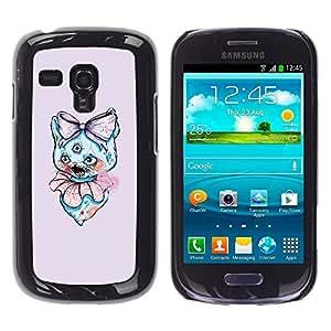LECELL--Funda protectora / Cubierta / Piel For Samsung Galaxy S3 MINI 8190 -- 3 Eyed Cat --