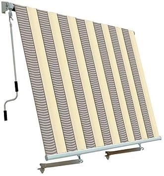 cortina de sol para balcn sistema de cada beige gris x cm
