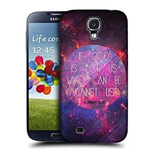 XiFu*MeiAIYAYA Samsung Case Designs God is For Us Christian Typography Protective Snap-on Hard Back Case Cover for Samsung Galaxy S4 I9500XiFu*Mei