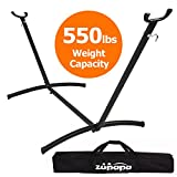 Zupapa 550LBS Weight Capacity Steel Hammock Stand| Adjustable Hooks Fits Hammocks 9 to 11.5 Feet Long, 2 Person, Space Saving Portable with Carrying Bag