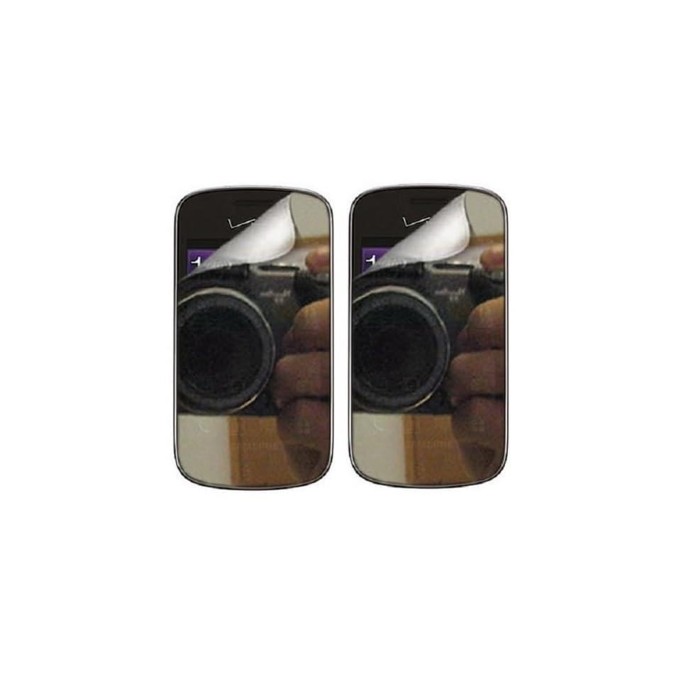 SOGA® For Samsung Galaxy Proclaim 720C SCH S720C / illusion i110 (Straight Talk) / (Verizon) 2x Premium Mirror LCD Screen Protector Kit Perfect Fit [SWB416]