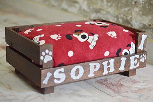 cama para perro personalizada con su nombre