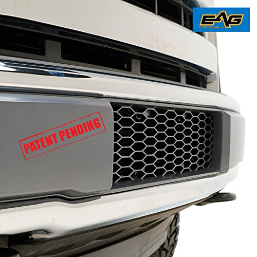 EAG Lower Bumper Grilles Charcoal Gray Grill Fit for 15-17 Ford F150 OE Bumper