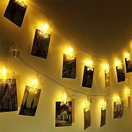 Satyam Kraft Star Decorating Clip Light For Diwali Home Decor White