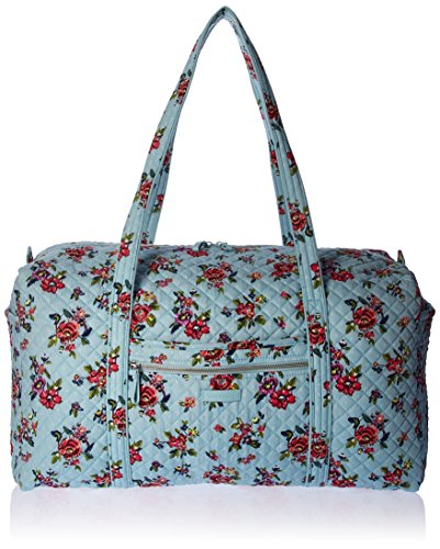 Vera Bradley Iconic Large Travel Duffel, Signature Cotton, Water Bouquet by Vera Bradley