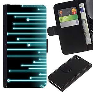 A-type (Synth) Colorida Impresión Funda Cuero Monedero Caja Bolsa Cubierta Caja Piel Card Slots Para Apple (4.7 inches!!!) iPhone 6 / 6S