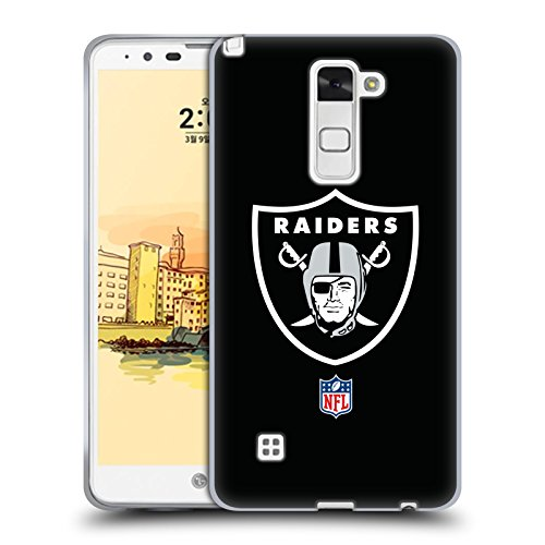 Official NFL Plain Oakland Raiders Logo Soft Gel Case for LG Stylus 2