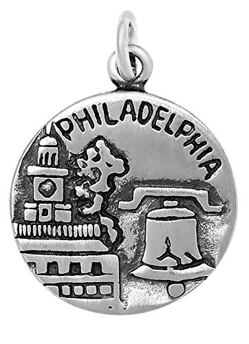 Philadelphia Charm - Raposa Elegance Sterling Silver Philadelphia Charm (approximately 16.5 mm x 16.5 mm)