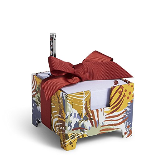 Vera Bradley Note Cube & Mini Pen in Painted Feathers (13805-663)