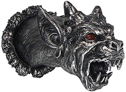 Design Toscano Gothic Gargoyle Cathedral Devil Dog Illuminated Wall Sculpture