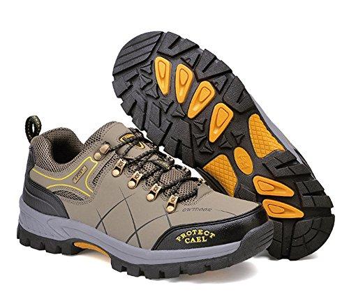 Minetom Men Women Spring Summer Outdoor Hiking Shoes Waterproof Walking Shoes Low Rise Unisex Climbing Shoes Anti-Slip Trekking Shoes B Army Green C69y9DlX