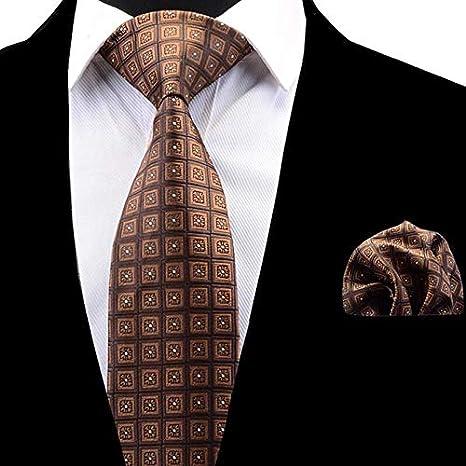 HYCZJH Conjunto de Corbata de Tela Escocesa para Hombre, Moda ...