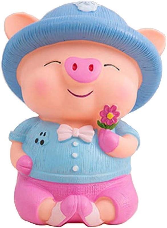 YC electronics Piggy Bank Money Bank Box 24cm Cute Pig Piggy Bank Coin Money Boxes Plastic PVC Still Savings Toy Cash Safe Box Child Lovers Gift Color : A
