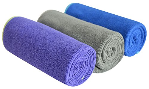 Multi-purpose Microfiber Fast Drying Travel Gym Towels 3-pack 16 Inch X 32 Inch