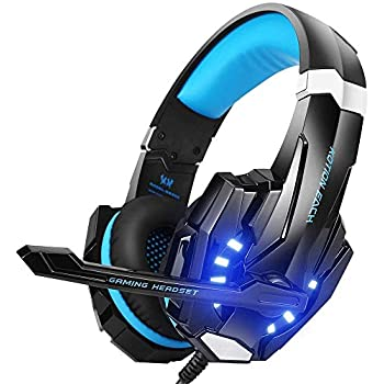 1d88b5202bc BENGOO G9000 Stereo Gaming Headset for PS4, PC, Xbox One Controller, Noise  Cancelling Over Ear Headphones with Mic, LED Light, Bass Surround, ...