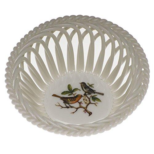 Herend Rothschild Bird Open Weave Basket