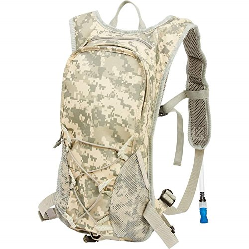 BNFUSA LUH20DC 2qt Digital Camouflage Hydration Pack With Padded Back & Straps by Maxam B014W7LDH0