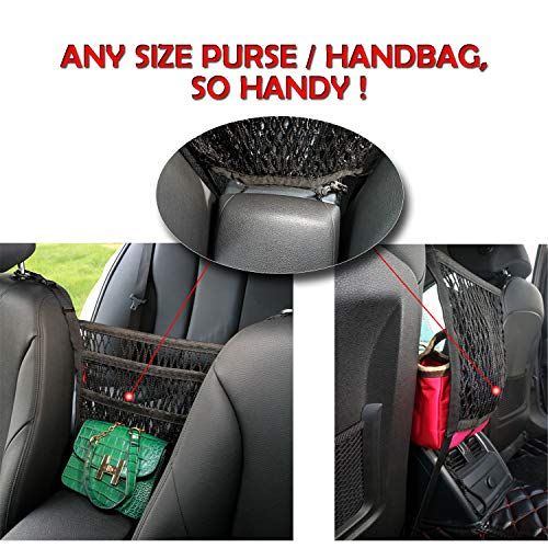 Black Grocery 2 PCS Universal Car Seat Headrest Phone Mount and Back Seat Hook for Hanging Bag Cloth Tintec Car Back Seat Hook Purse