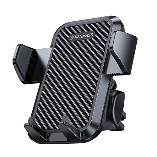 VANMASS Car Phone Mount, Universal Air Vent Phone Holder for Car, Protective Rubber Materials, Fully Adjustable Vent Clip Compatible iPhone 11 Pro XR Xs Max X 8 Galaxy S10 S9 S8 S7 Google Etc