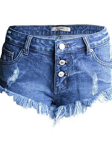 Blue Femme Jeans Street pour Chic YFLTZ Pantalon Unie Couleur qXF8xp7S
