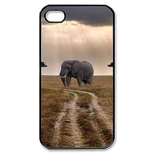 Elephant Custom Cover Case for Iphone 4,4S,diy phone case ygtg525456 by icecream design