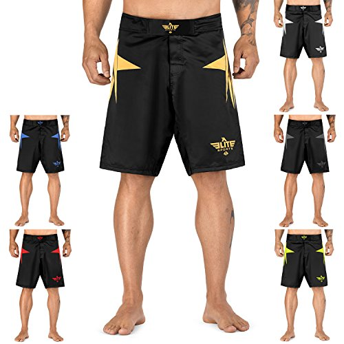 Elite Sports Star Series Fight Shorts - UFC, MMA, BJJ, Muay Thai, WOD, No-GI, Kickboxing, Boxing Shorts