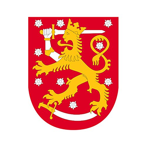 Finnish Coat of Arms Sticker Die Cut Decal Self Adhesive FA Vinyl (Finnish Coat Arms Of)