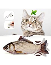 Zabawka dla kotów, ryba, zabawka elektryczna, zabawka dla kotów, z kocimiętą, interaktywna zabawka dla kotów, ładowanie USB, nadaje się do prania, dla kotów, do zabawy, gryzienia, gryzienia, gryzienia i pedałowania